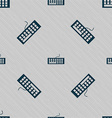 Computer keyboard Icon Seamless pattern with vector image vector image