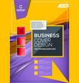 cover design business layout template annual vector image vector image