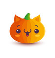 cute pumpkin in manga style vector image