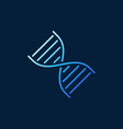 dna double helix concept blue outline icon vector image
