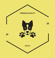 dog paw - logo symbol protect sign vector image vector image