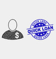 dot banker icon and distress quick loan vector image vector image