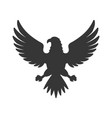eagle icon bird logo on white background vector image vector image