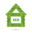 Ecology home icon of green leaves vector image vector image