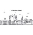 england leeds architecture line skyline vector image vector image