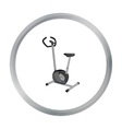 Exercise bike icon cartoon Single sport icon from vector image vector image