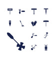 gardener icons vector image vector image