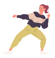 girl passionately dancing contemporary dance vector image
