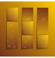 Gold Golden Rectangle Banners New Year Christmas vector image vector image