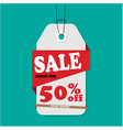 gray tag sale sale limited time 50 off ima vector image