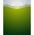 green background with decorative ornaments vector image vector image