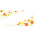 honeycomb hexagon bee cells yellow-orange linear vector image vector image