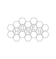 Honeycomb set Beehive element Honey text icon vector image