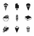 ice-cream icon set vector image vector image