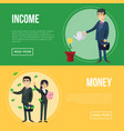 income money flyers with businessmen vector image