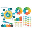 infographic circle chart template vector image