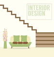 Interior Design Stairs With Sofa vector image vector image