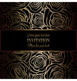 Invitation decorative golds 38 vector image vector image