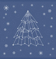 it web christmas tree vector image vector image