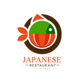 japanese restaurant logo design authentic vector image