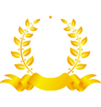Laurel wreath with ribbon and star vector image vector image