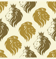 Lion head seamless pattern