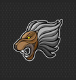 lion logo design template head icon vector image