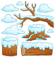 log theme collection 2 vector image vector image