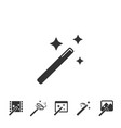 magic wands icons set vector image vector image
