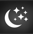 Moon and stars icon flat isolated on background
