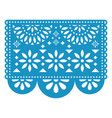 papel picado floral design with flowers vector image vector image