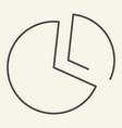 pie chart thin line icon statistics vector image vector image