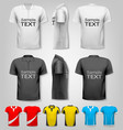 polo shirts with sample text space vector image vector image