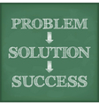 Problem Solution Success Diagram vector image vector image