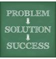Problem Solution Success Diagram vector image vector image