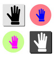 protective glove flat icon vector image vector image