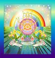 Rainbow Springtime vector image