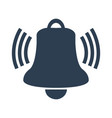 ringing bell icon on white background vector image vector image