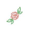 rose flower icon design template isolated vector image