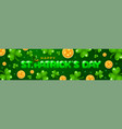 saint patricks day horizontal banner vector image