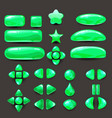 set game ui complete green menu of graphical user vector image
