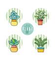 set of cactus cartoons vector image vector image