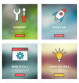Set of flat design concepts Technical support vector image