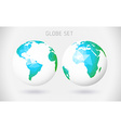 Set of globes - polygonal style vector image