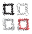 Set of grunge frames Watercolor retro vintage vector image vector image