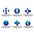 set of orthopedic logo template design emb vector image vector image