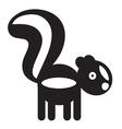 Skunk vector image vector image