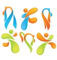 sportive symbols vector image