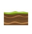 structure soil layers diagram vector image