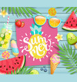 summer 2019 pink card or banner vector image vector image
